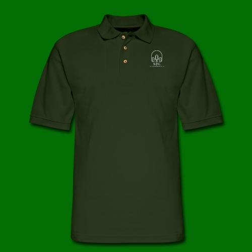 SPC Logo White - Men's Pique Polo Shirt