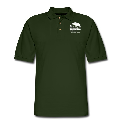 Ken's Awesome Monochrome Logo - Men's Pique Polo Shirt