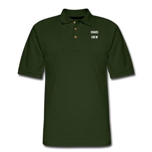 Chaos Crew White - Men's Pique Polo Shirt