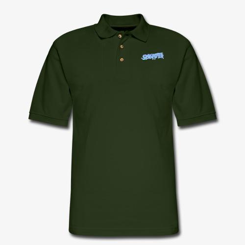 Retro Logo Glitch 2 - Men's Pique Polo Shirt