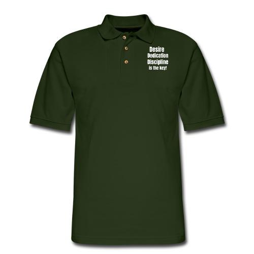 Desire Dedication Discipline is the key! - Men's Pique Polo Shirt
