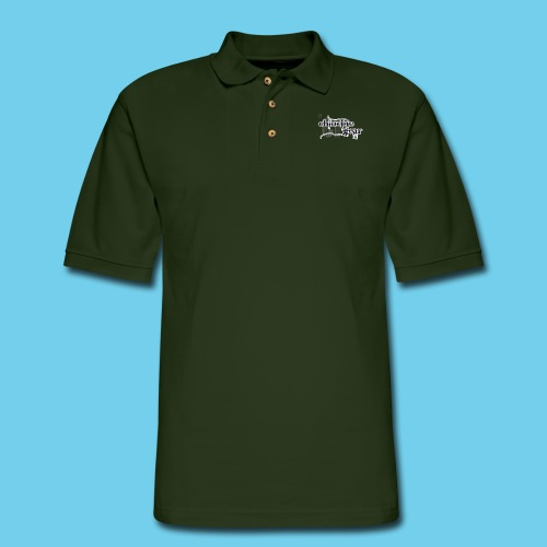 Chlorine Gear Textual B W - Men's Pique Polo Shirt