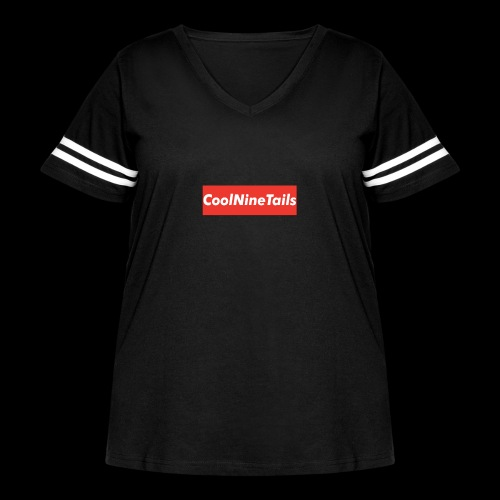 CoolNineTails supreme logo - Women's Curvy Vintage Sport T-Shirt