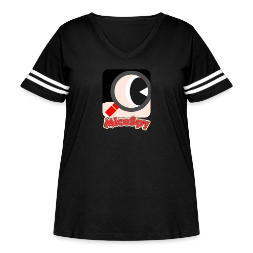 MiceSpy with your eye! - Women's Curvy Vintage Sport T-Shirt