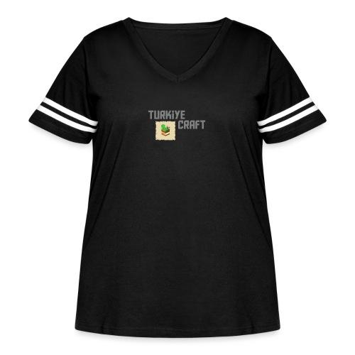 TurkiyeCraft Logo - Women's Curvy Vintage Sport T-Shirt