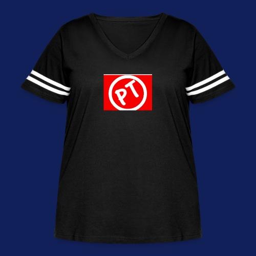 Enblem - Women's Curvy Vintage Sport T-Shirt