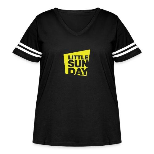 littleSUNDAY Official Logo - Women's Curvy Vintage Sport T-Shirt