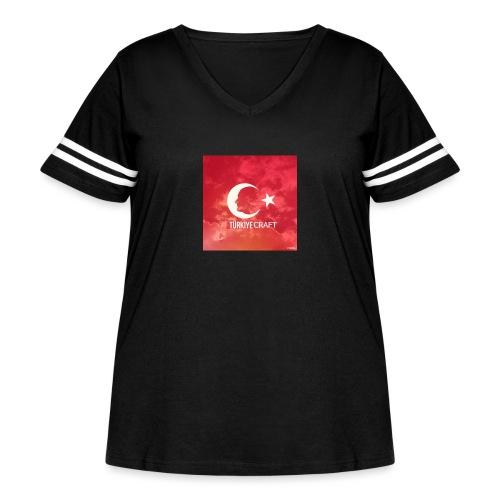 TurkiyeCraft - Women's Curvy Vintage Sport T-Shirt