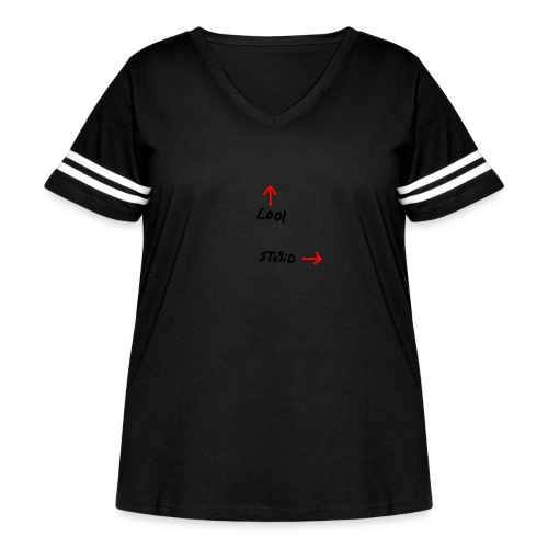 Cool Vs. Stupid - Women's Curvy Vintage Sports T-Shirt