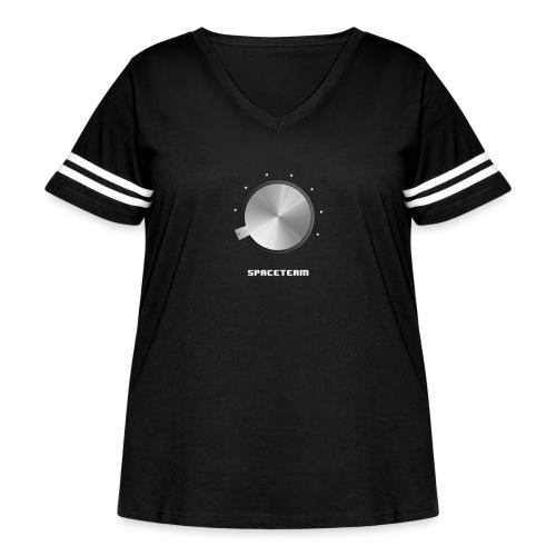 Spaceteam Dial - Women's Curvy Vintage Sports T-Shirt