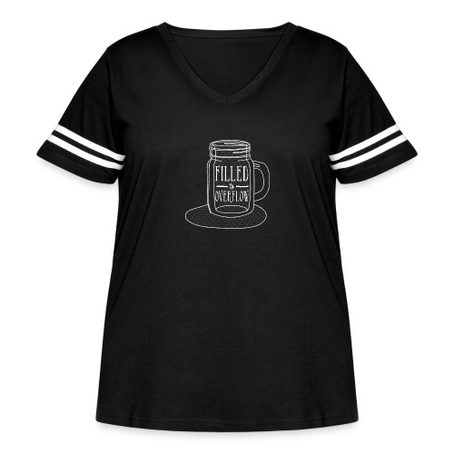 Filled to Overflow White - Women's Curvy Vintage Sport T-Shirt