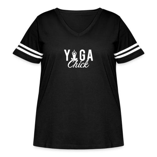 Yoga Fitness Chick - Women's Curvy Vintage Sport T-Shirt