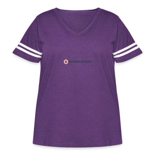 6 Brothers Deli - Women's Curvy Vintage Sport T-Shirt