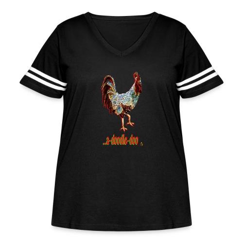 A Doodle Doo - Women's Curvy Vintage Sport T-Shirt