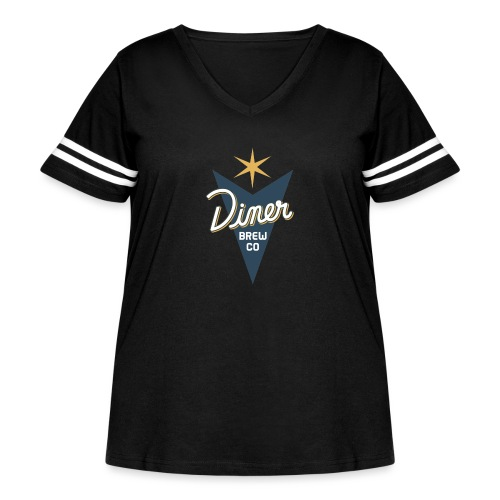 Diner Brew Company - Women's Curvy Vintage Sport T-Shirt