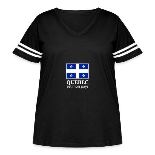 Québec est mon pays - Women's Curvy Vintage Sport T-Shirt