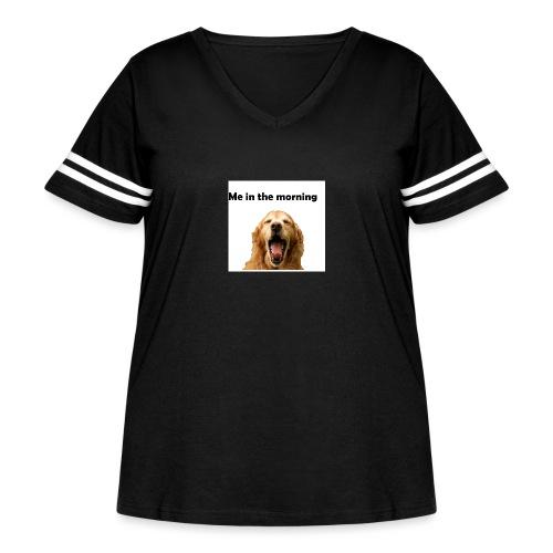 doggo - Women's Curvy Vintage Sport T-Shirt