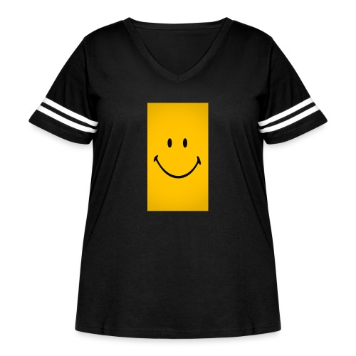 Smiley face - Women's Curvy Vintage Sport T-Shirt