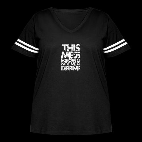 Words Do Not Define Me - Women's Curvy Vintage Sport T-Shirt