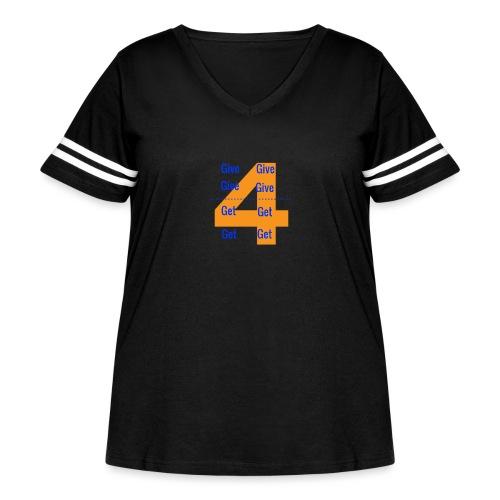 Forgive & Forget - Women's Curvy Vintage Sport T-Shirt