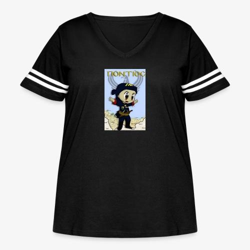 Cartoon - Pontian... fly like an eagle - Women's Curvy Vintage Sport T-Shirt