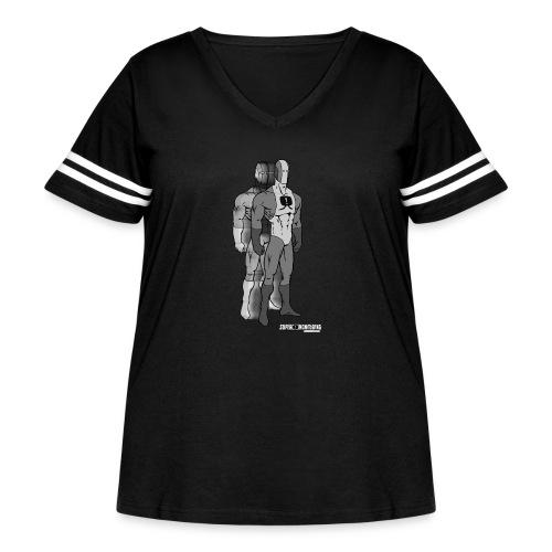 Superhero 9 - Women's Curvy Vintage Sport T-Shirt