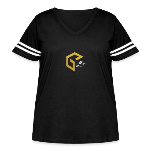 GeoJobe UAV - Women's Curvy Vintage Sport T-Shirt