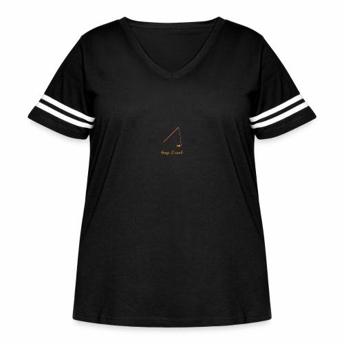 Keep it Reel (Orange) - Women's Curvy Vintage Sport T-Shirt