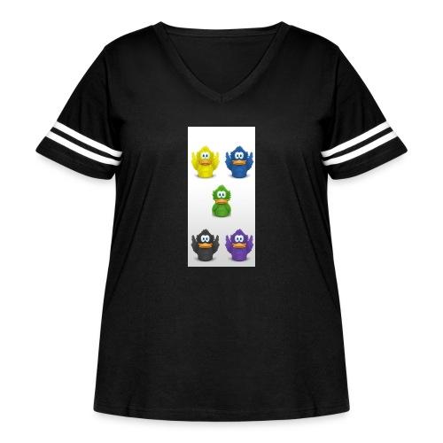 5 adiumys png - Women's Curvy Vintage Sport T-Shirt