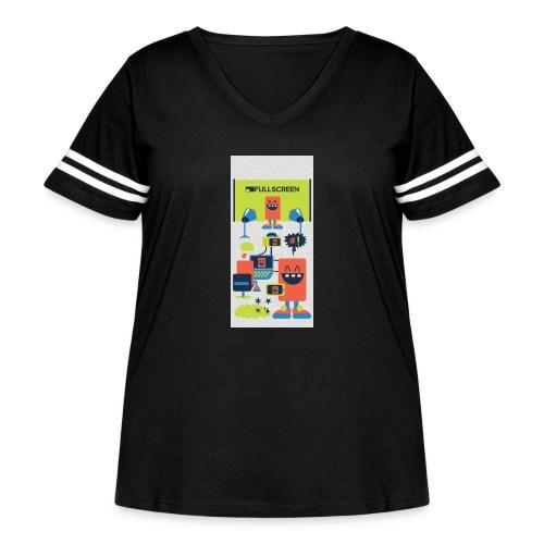 iphone5screenbots - Women's Curvy Vintage Sport T-Shirt