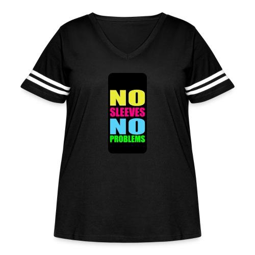 neonnosleevesiphone5 - Women's Curvy Vintage Sport T-Shirt