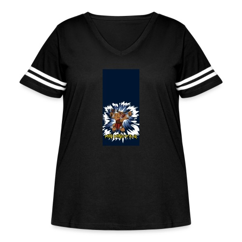 minotaur5 - Women's Curvy Vintage Sport T-Shirt