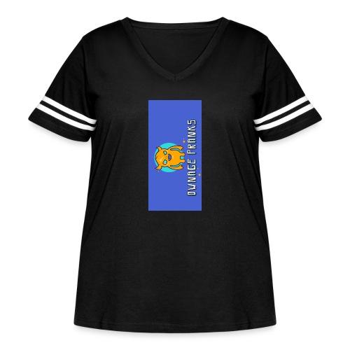 logo iphone5 - Women's Curvy Vintage Sport T-Shirt