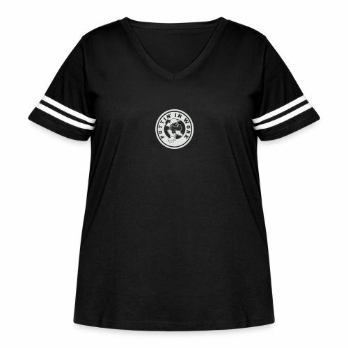 P.I.W White Logo - Women's Curvy Vintage Sport T-Shirt