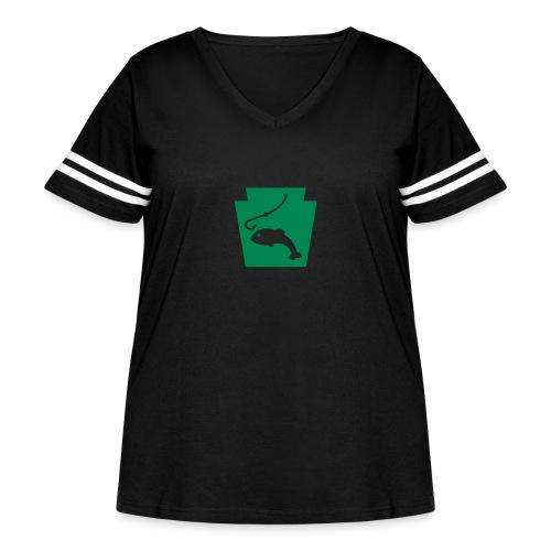 Pennsylvania Fishing Keystone PA - Women's Curvy Vintage Sport T-Shirt
