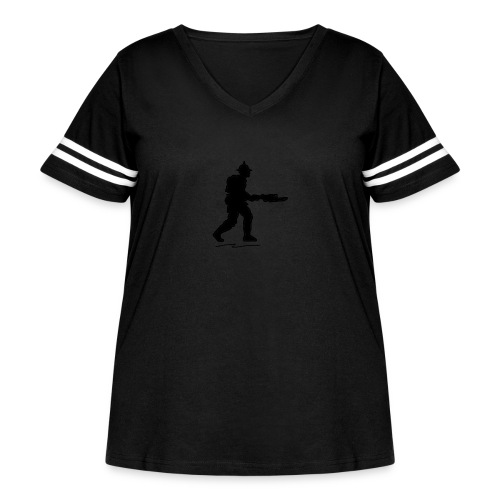 ww1 infantry - Women's Curvy Vintage Sport T-Shirt