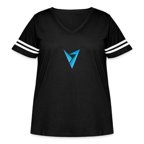 v logo - Women's Curvy Vintage Sport T-Shirt