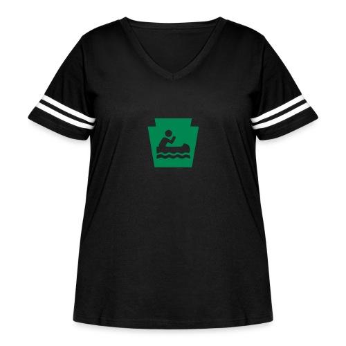 Pennsylvania Keystone Boater PA - Women's Curvy Vintage Sport T-Shirt