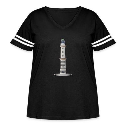 Lighthouse Warnemünde Rostock - Women's Curvy Vintage Sport T-Shirt