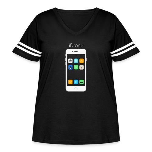 iDrone - Women's Curvy Vintage Sport T-Shirt