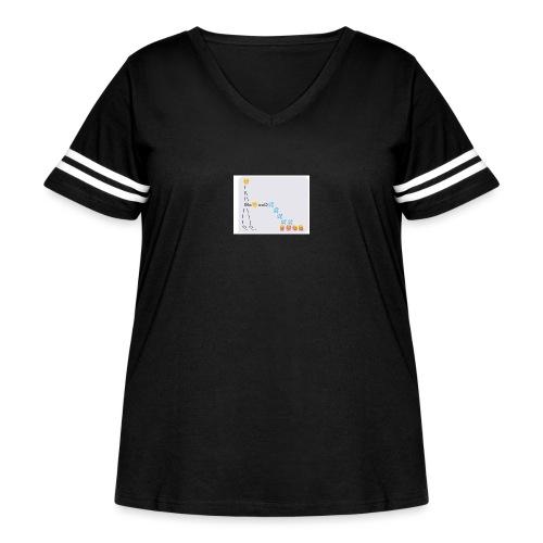 PD Cover Art - Women's Curvy Vintage Sport T-Shirt