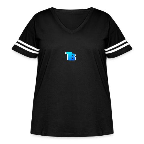 Trublu Overlapping letter Design - Women's Curvy Vintage Sport T-Shirt