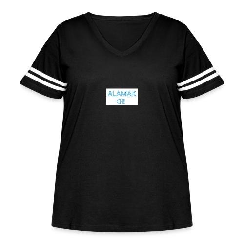 ALAMAK Oi! - Women's Curvy Vintage Sports T-Shirt
