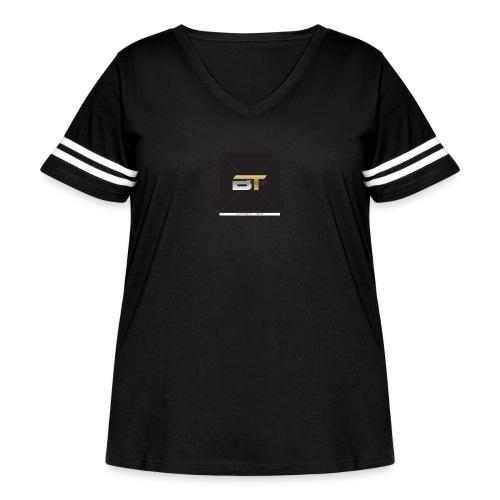 BT logo golden - Women's Curvy Vintage Sport T-Shirt