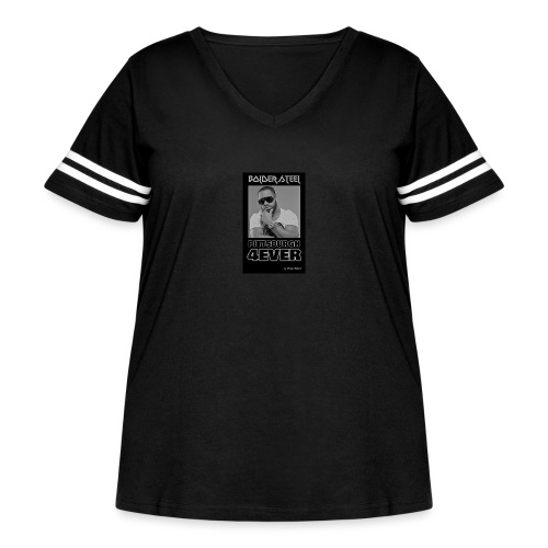 BOLDER STEEL PITTSBURGH 4EVER BLACK WHITE - Women's Curvy Vintage Sport T-Shirt