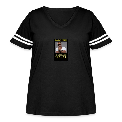 BOLDER STEEL PITTSBURGH 4EVER 1 - Women's Curvy Vintage Sport T-Shirt