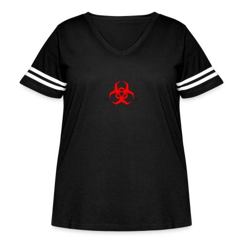 HazardMartyMerch - Women's Curvy Vintage Sport T-Shirt