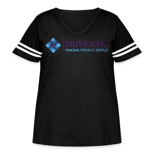 Design 1 - Women's Curvy Vintage Sport T-Shirt