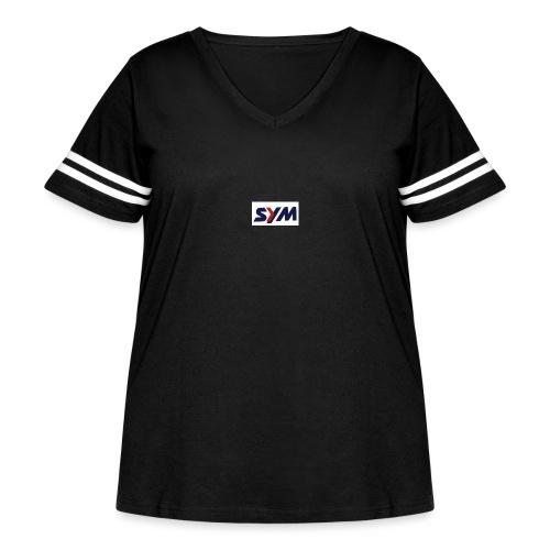download_-7- - Women's Curvy Vintage Sport T-Shirt