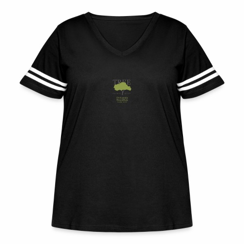 Tree Reading Swag - Women's Curvy Vintage Sport T-Shirt